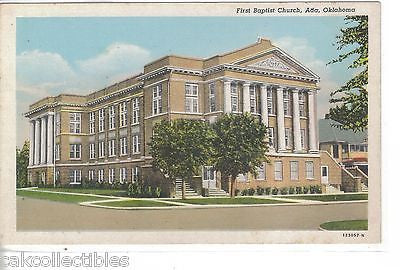 First Baptist Church-Ada,Oklahoma - Cakcollectibles