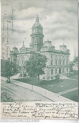 City Court House-Council Bluffs,Iowa UDB - Cakcollectibles