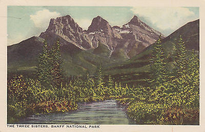 """The Three Sisters"" - Banff National Park, Canada Postcard - Cakcollectibles - 1"