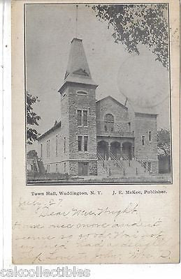 Town Hall-Waddington,New York 1907 - Cakcollectibles - 1