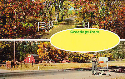 Greetings From Farm Country Postcard - Cakcollectibles