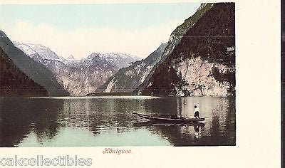 Early Post Card-Konigsee-Man on Boat UDB - Cakcollectibles