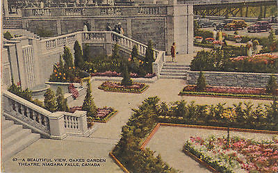 """A Beautiful View"" Oaks Garden Theatre , Niagra Falls, Canada Postcard - Cakcollectibles - 1"