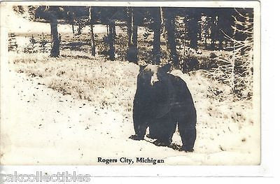 RPPC-Black Bear-Rogers City,Michigan 1938 - Cakcollectibles - 1