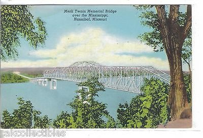 Mark Twain Memorial Bridge over the Mississippi-Hannibal,Missouri - Cakcollectibles