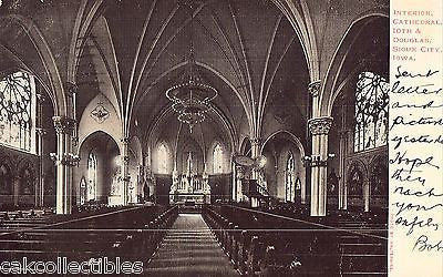 Interior,Cathedral,10th & Douglas-Sioux City,Iowa 1906 - Cakcollectibles