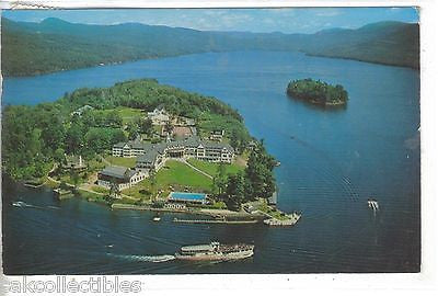 Aerial View-Sagamore Hotel-Lake George-Bolton Landing,New York 1963 - Cakcollectibles
