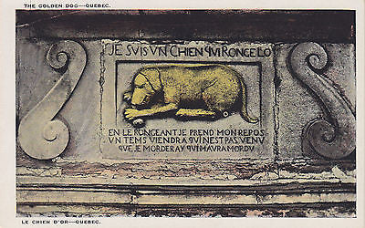 """ The Famous Golden Dog "" - Quebec, Canada Postcard - Cakcollectibles - 1"