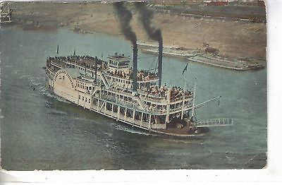 Excursion Steamer,Ohio River-Cincinnati,Ohio 1911 Post Card