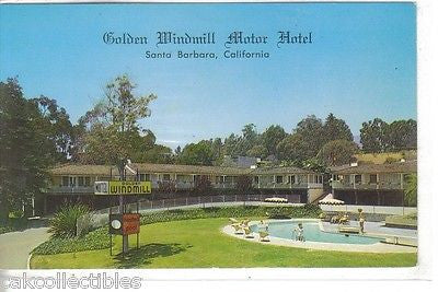 Golden Windmill Motor Hotel-Santa Barbara,California - Cakcollectibles - 1