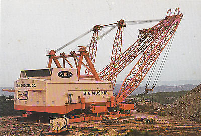 """Big Muskie"" World's Largest Earth Moving Machine Postcard - Cakcollectibles - 1"
