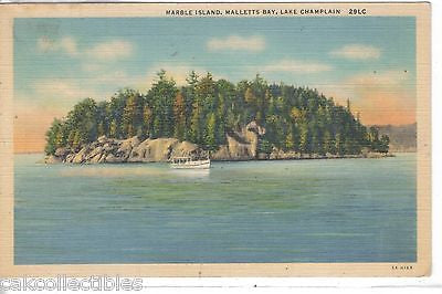 Marble Island,Mallett's Bay-Lake Champlain - Cakcollectibles