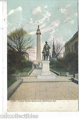Teakle Wallis Monument-Baltimore,Maryland 1908 - Cakcollectibles