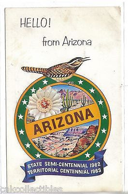 Hello! from Arizona-State Seal - Cakcollectibles