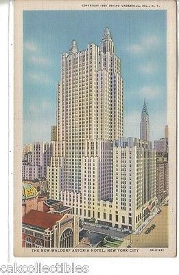 The New Waldorf Astoria Hotel-New York City - Cakcollectibles