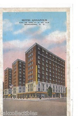 Hotel Annapolis-Washington,D.C. - Cakcollectibles