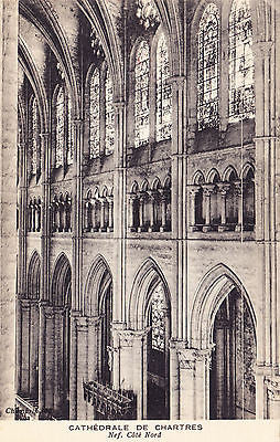 Cathedrale De Chartres Nef. Cote Nord France Postcard - Cakcollectibles