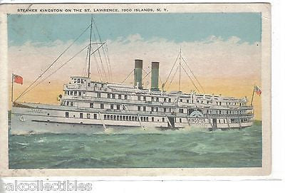 Steamer Kingston on the St. Lawrence-1000 Islands,New York 1925 - Cakcollectibles