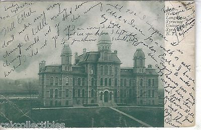 Hall of Languages,Syracuse University-Syracuse,New York  1905 - Cakcollectibles