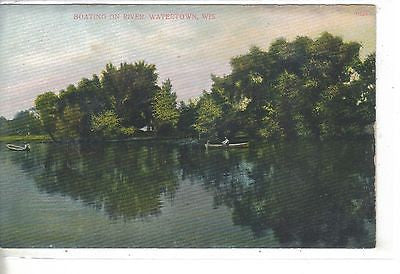 Boating on River-Watertown,Wisconsin - Cakcollectibles