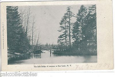 The Little Bridge of Romance at Star Lake,New York UDB - Cakcollectibles - 1