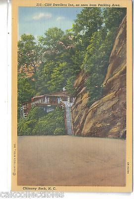 Cliff Dwellers inn as seen from Parking Area-Chimney Rock,North Carolina - Cakcollectibles