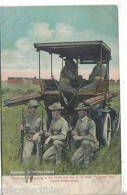 Soldiers Telegraphing in The Field with The U.S. Auto Telegraph Car-U.S. Army - Cakcollectibles - 1