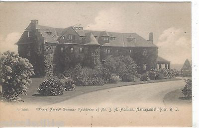"""Shore Acres"",Summer Residence of Mr. I.H. Hannan-Narragansett Pier,R.I. UDB - Cakcollectibles"
