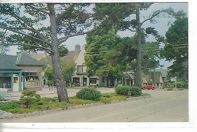 """Ocean Avenue""-Carmel-by-the-Sea,California.Vintage postcard front"