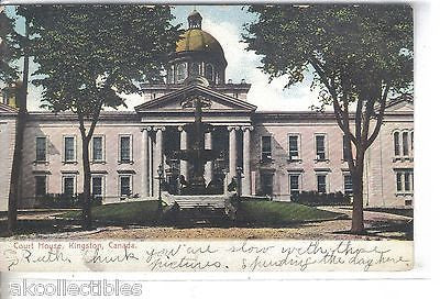 Court House-Kingston,Canada 1907 - Cakcollectibles