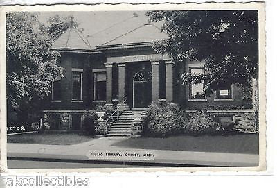 Public Library-Quincy,Michigan 1942 - Cakcollectibles - 1