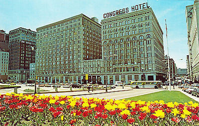 Americana Congress Hotel Chicago Postcard - Cakcollectibles