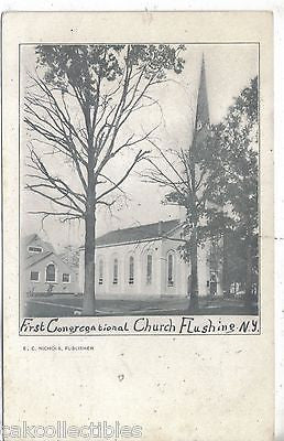 First Congregational Church-Flushing,New York UDB - Cakcollectibles