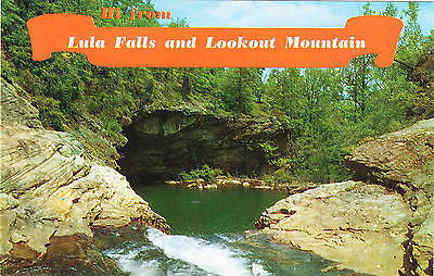 Greetings From Lula Falls And Lookout Mountain Postcard - Cakcollectibles