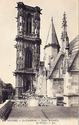 La Cathedrale Eglise Saint Cyr. Le Clocher Postcard - Cakcollectibles