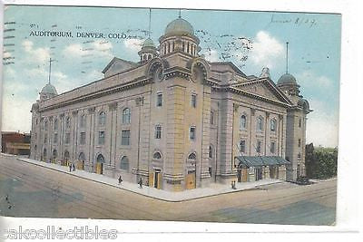 Auditorium-Denver,Colorado 1909 - Cakcollectibles