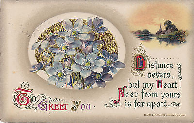 """To Greet You"" John Winsch Postcard - Cakcollectibles - 1"