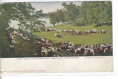 """Ben Greet"" Performance,Deep Haven-Lake Minnetonka,Minnesota 1913 Postcard Front"