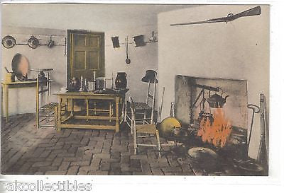 """Ash Lawn"", Kitchen-Charlottesville,Virginia (Hand Colored) - Cakcollectibles"