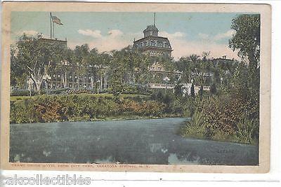 Grand Union Hotel from City Park-Saratoga Springs,New York - Cakcollectibles