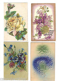 Lot of 4 Antique Greetings Post Cards-Lot 16 - Cakcollectibles - 1