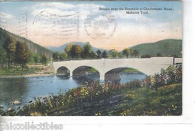 Bridge over the Deerfield at Chrlemont,Massachusetts 1916 - Cakcollectibles