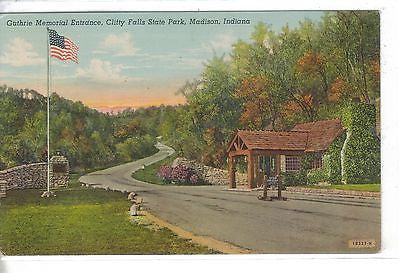 Guthrie Memorial Entrance,Clifty Falls State Park-Madison,Indiana 1954 - Cakcollectibles