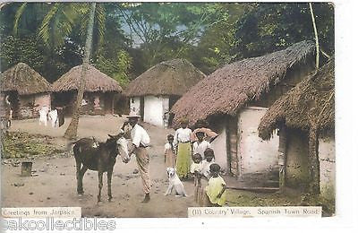 "Country Village,Spanish Town Road-""Greetings from Jamaica"" - Cakcollectibles - 1"