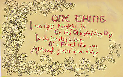 Miles Away Thankgiving Postcard - Cakcollectibles - 1
