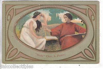 "Early Post Card-""Study""-Chas. S. Pearce - Cakcollectibles"
