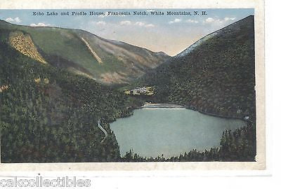 Echo Lake and Proflie House-Franconia Notch,White Mts.,New Hampshire - Cakcollectibles