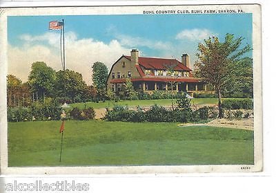 Buhl Country Club,Buhl Farm-Sharon,Pennsylvania 1938 - Cakcollectibles