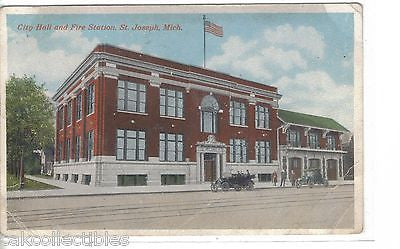 City Hall and Fire Station-St. Joseph,Michigan - Cakcollectibles - 1