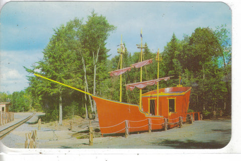 Captain Kidd's Pirate Ship,Enchanted Forest-Old Forge,New York Post Card - 1